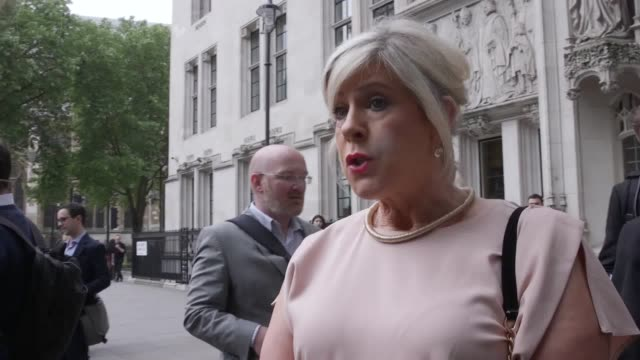 bernadette smyth of prolife group precious life reacts to the supreme court ruling on abortion in northern ireland - northern ireland stock videos & royalty-free footage