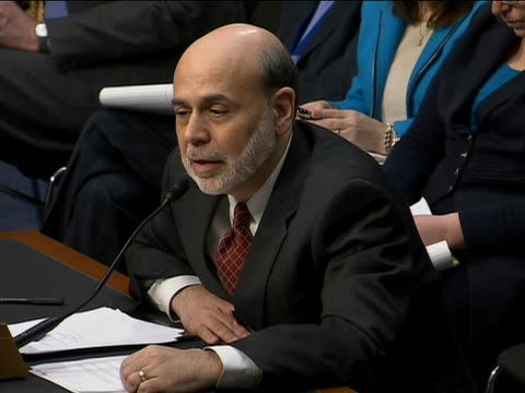 congress march 1 2011 bernanke's answer to opec question on opec it's it's difficult to tell how much impact on the price opec has it is a global... - business or economy or employment and labor or financial market or finance or agriculture stock-videos und b-roll-filmmaterial