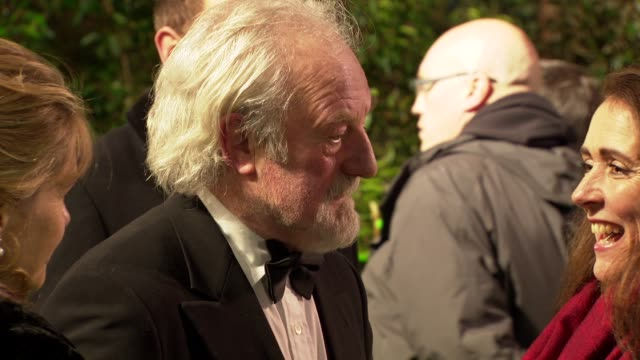 bernard hill at 'the hobbit' uk premiere and royal film performance at odeon leicester square on december 12, 2012 in london, england. - the hobbit stock videos & royalty-free footage