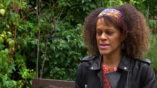 bernardine evaristo becomes first black female head of a uk drama school; england: int moyege oke interview via internet sot gv books by bernardine... - bookshelf stock videos & royalty-free footage