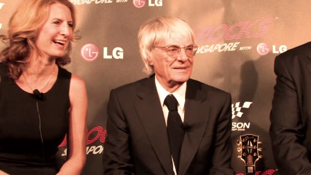 bernie ecclestone at the f1 rocks launch at london england. - bernie ecclestone stock videos & royalty-free footage
