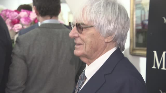 bernie ecclestone at tyler shields: decadence - private view on february 03, 2016 in london, england. - bernie ecclestone stock videos & royalty-free footage