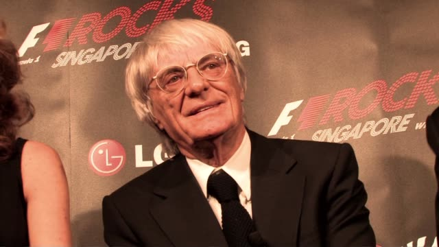 bernie ecclestone being questioned when was the last time he thought of his life being so great at the f1 rocks launch at london england - bernie ecclestone stock videos & royalty-free footage