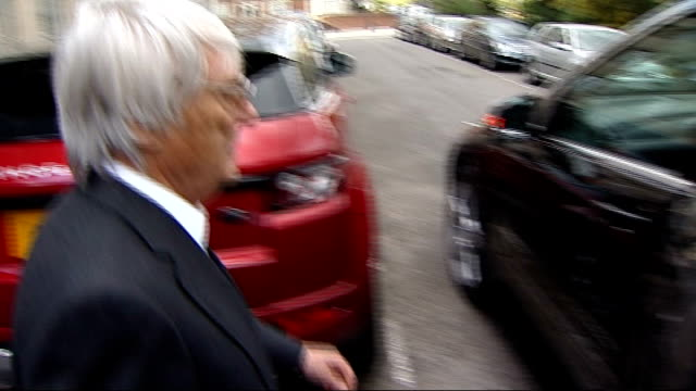 bernie ecclestone doorstep interview on bahrain grand prix; england: london: ext bernie ecclestone along, speaking to press and getting in car sot -... - bernie ecclestone stock videos & royalty-free footage
