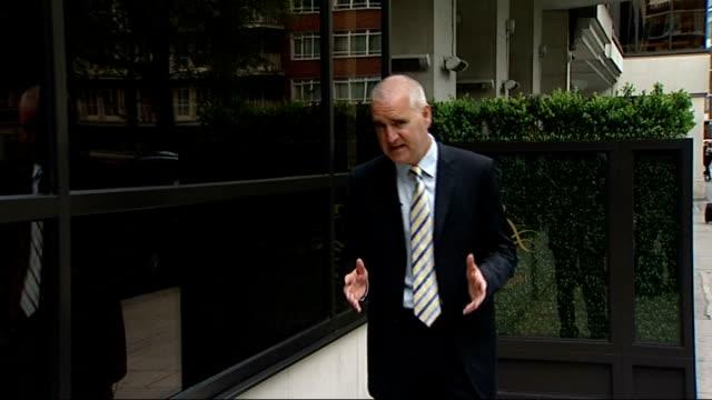 bernie ecclestone trial begins; england: london: knightsbridge: ext reporter to camera - bernie ecclestone stock videos & royalty-free footage