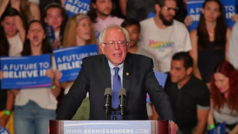 """bernie sanders spoke at his """"a future to believe in"""" rally in phoenix, which took place at 1:00pm on march 15, 2016. also included are sots with... - 2016 stock videos & royalty-free footage"""