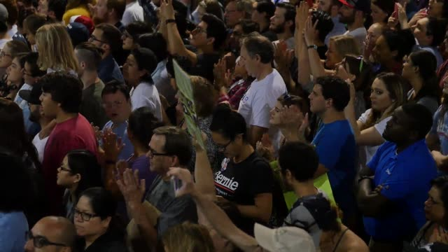 Bernie Sanders spoke at his A Future to Believe In rally in Phoenix which took place at 100pm on March 15 2016 Also included are SOTs with young...