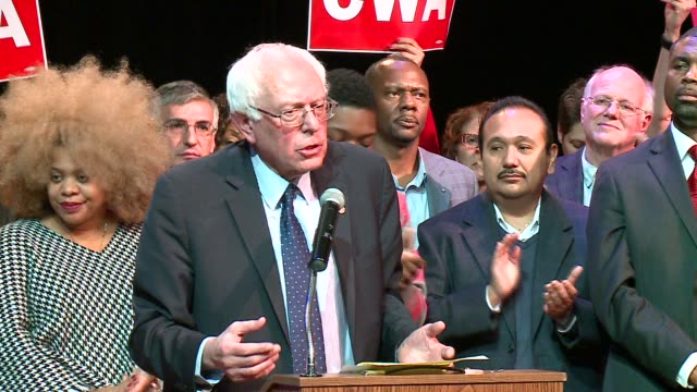 wgn bernie sanders talks about chicago's mayor rahm emanuel and chuy garcia on december 23 2015 in chicago illinois - jesús garcía politician stock videos and b-roll footage