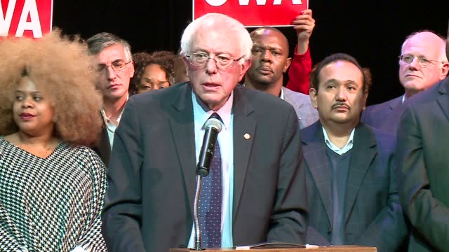 wgn bernie sanders talks about incarceration rates investing in education and jobs on december 23 2015 in chicago illinois - prison reform stock videos & royalty-free footage