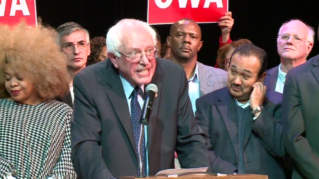wgn bernie sanders talks about racism in criminal justice system and ending the death penalty on december 23 2015 in chicago illinois - prison reform stock videos & royalty-free footage