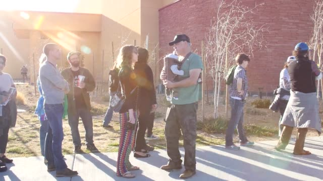 bernie sanders town hall at twin arrows navajo casino resort in flagstaff az on march 17 sots with supporters including matt fahey producer of... - reality tv stock videos and b-roll footage