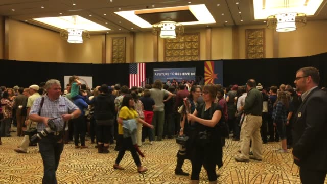 bernie sanders town hall at twin arrows navajo casino resort in flagstaff az on march 17 sots with supporters including matt fahey producer of... - navajo reservation stock videos and b-roll footage