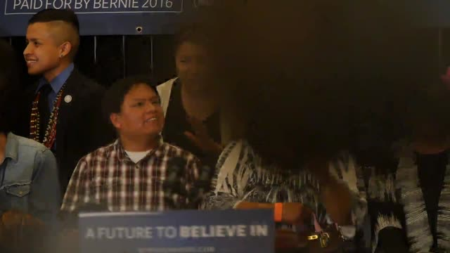 bernie sanders town hall at twin arrows navajo casino resort in flagstaff az on march 17 sots with supporters including libby williams of the navajo... - navajo reservation stock videos and b-roll footage