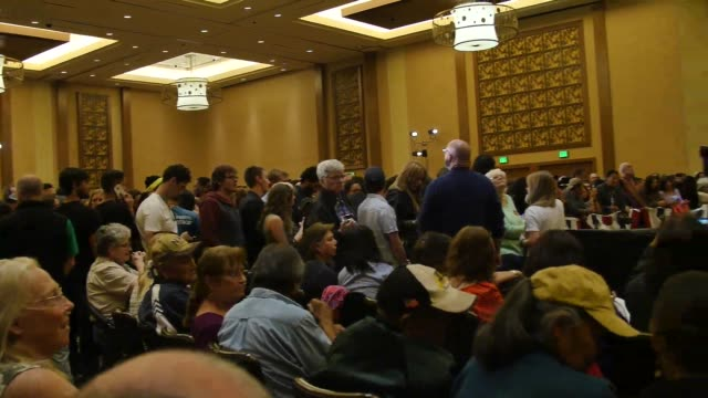bernie sanders town hall at twin arrows navajo casino resort in flagstaff az on march 17 sots with supporters including libby williams of the navajo... - reality tv stock videos and b-roll footage