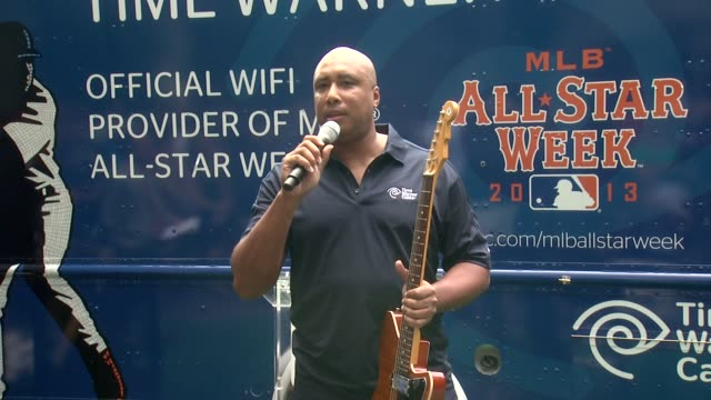 speech bernie williams is not a morning person either at time warner cable's launch of twc wifi in manhattan at time warner center on july 11 2013 in... - time warner center stock videos & royalty-free footage