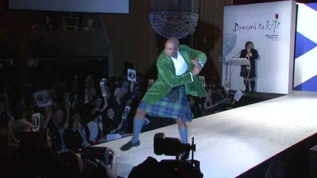 bernie williams walks the runway at the 7th annual 'dressed to kilt' charity fashion show at new york ny - dressed to kilt stock videos & royalty-free footage