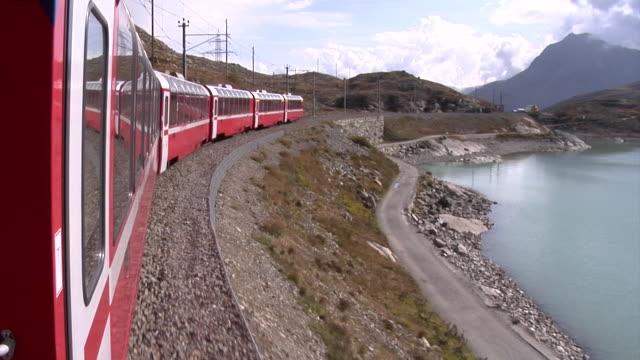 Bernina Express between Ospizio Bernina and Bernina Lag Alb