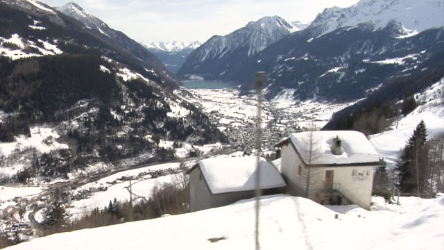 Bernina railway in the winter