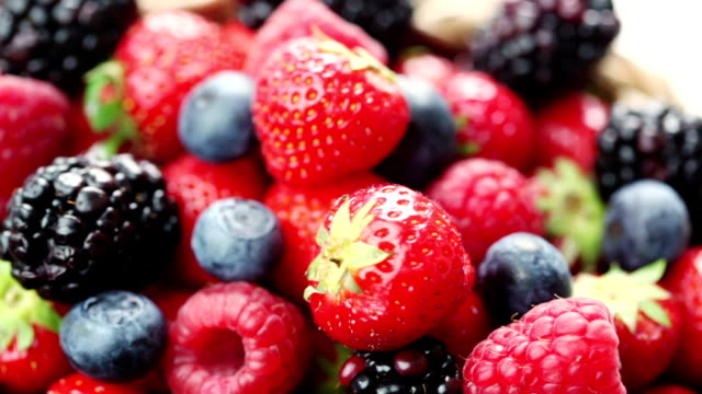 berries fruit - fruit bowl stock videos & royalty-free footage