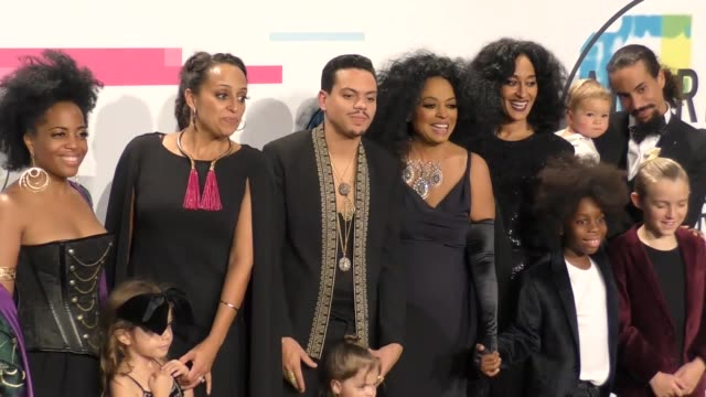 Berry Gordy Evan Ross Diana Ross Tracee Ellis Ross family at the 2017 American Music Awards Press Room on November 19 2017 in Los Angeles California