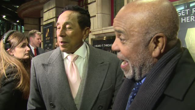 interview berry gordy smokey robinson on london and smokey at shaftesbury theatre on march 08 2016 in london england - smokey robinson stock-videos und b-roll-filmmaterial