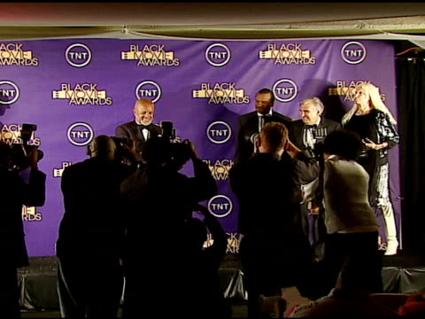berry gordy winner classic cinema hall of fame award billy dee williams and others at the 2006 tnt black movie awards press room at wiltern theater... - wiltern theater stock videos and b-roll footage