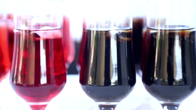 Berry juice in glasses