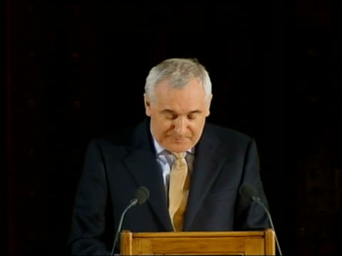 bertie ahern speech to uk houses of parliament bertie ahern speech sot ours must and will be the last generation to feel the pain and anger of old... - human joint stock videos & royalty-free footage