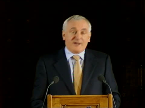 stockvideo's en b-roll-footage met bertie ahern speech to uk houses of parliament; bertie ahern speech sot - today, there are over a hundred members of this parliament with an irish... - politics and government