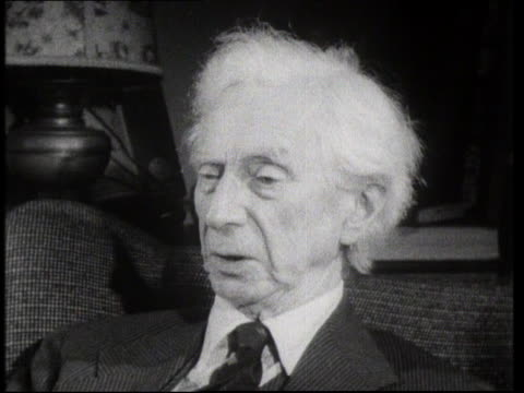 bertrand russell discusses his views of world war i - philosopher stock videos & royalty-free footage