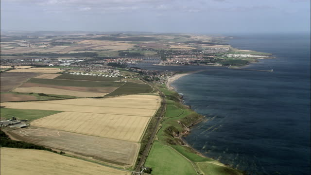 berwick on tweed  - aerial view - england, northumberland, united kingdom - northumberland coast stock videos & royalty-free footage