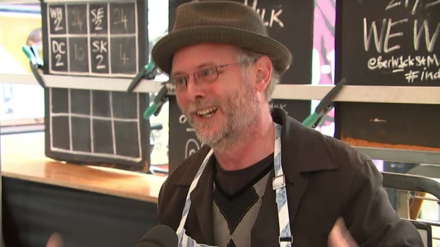 berwick street market stall holders call for compensation over disruption robin smith interview sot - itv london lunchtime news stock-videos und b-roll-filmmaterial
