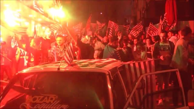 besiktas fans celebrate after besiktas won their 15th turkish spor toto super lig title by defeating gaziantepspor 40 in silivri district of istanbul... - besiktas stock videos and b-roll footage
