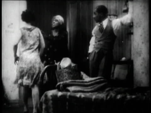 1929 MS Bessie Smith fighting with another woman in a scene from the movie St. Louis Blues / New York City, New York, United States