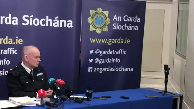 *best audio available* assistant garda commissioner john o'driscoll says the gardai are prepared for any attacks that could take place on the 5th... - audio available bildbanksvideor och videomaterial från bakom kulisserna