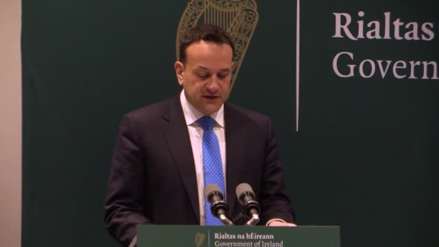 best audio available. irish premier leo varadkar has warned that more than half of the population in the republic of ireland could contract covid-19,... - audio available bildbanksvideor och videomaterial från bakom kulisserna