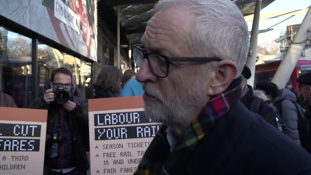 best audio available labour leader jeremy corbyn talks about his party's plans to reduce rail fares should they win the forthcoming general election... - nationalization stock videos & royalty-free footage