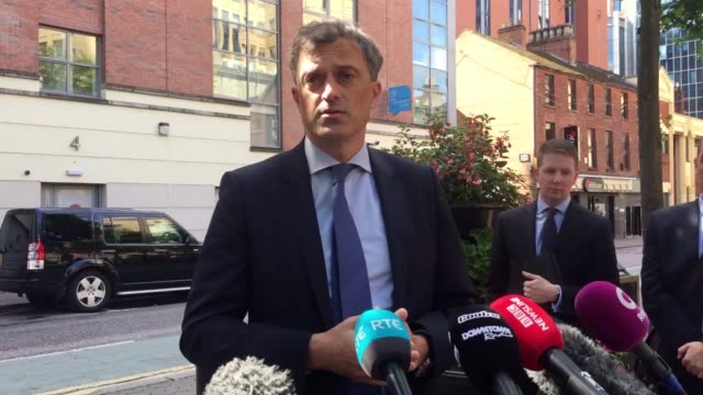 *best audio available* northern ireland secretary julian smith speaking to the media in belfast where he said that he has told the region's rowing... - audio available bildbanksvideor och videomaterial från bakom kulisserna