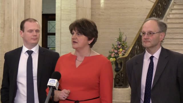 stockvideo's en b-roll-footage met *best audio available* northern ireland's first minister arlene foster said it is essential that prime minister boris johnson delivers on his... - audio available