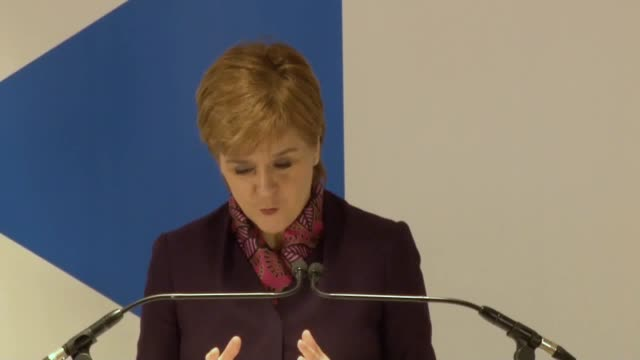 best audio available. scotland's first minister, nicola sturgeon, discusses the scottish government's research on the economic impact of different... - audio available bildbanksvideor och videomaterial från bakom kulisserna