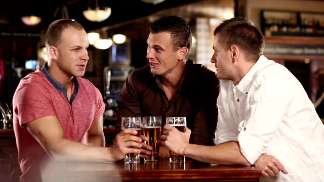 best friends in the pub - drinking beer stock videos and b-roll footage