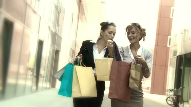HD SLOW-MOTION: Best Friends Shopping