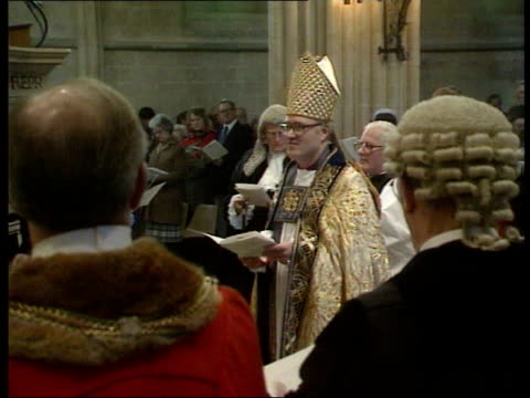 best of 1990 collection t25079002 2571990 dr george carey becomes new archbishop of canterbury london lambeth palace george carey newly appointed... - anglican stock videos and b-roll footage