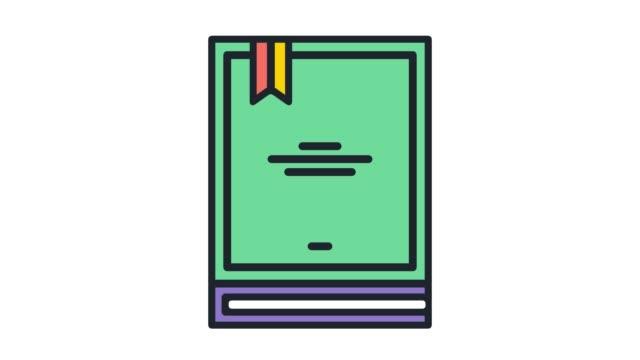 アルファで最高の売り手新規フラット ライン アイコン アニメーション - 作家点の映像素材/bロール