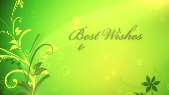 vídeos y material grabado en eventos de stock de mejores deseos para su boda-loop - diseño floral
