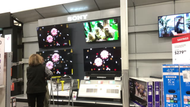 bestbuy offers 40% discount to some of the merchants before the black friday - high definition television television set stock videos & royalty-free footage