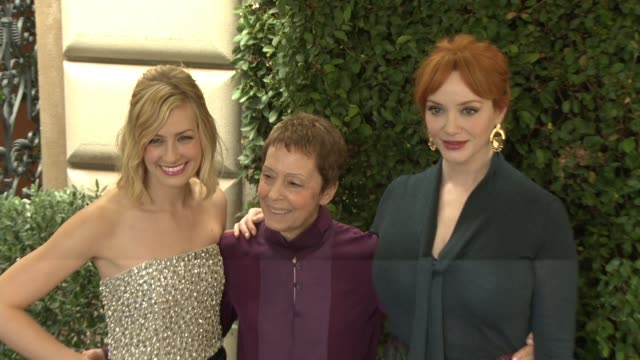 beth behrs gail abarbanel christina hendricks at the rape foundation's annual brunch in los angeles ca - christina hendricks stock videos and b-roll footage