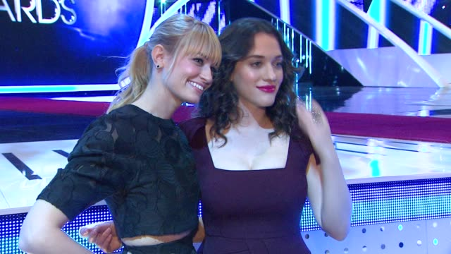 Beth Behrs Kat Dennings at 2014 People's Choice Awards Media Day in Los Angeles CA