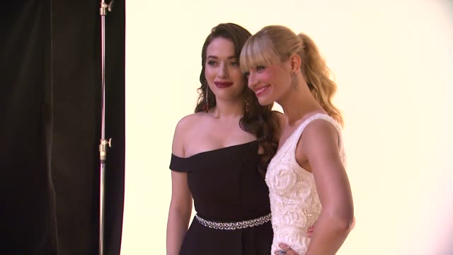 Beth Behrs Kat Dennings at 40th Annual People's Choice Awards Portrait Room at Nokia Theatre LA Live on in Los Angeles California