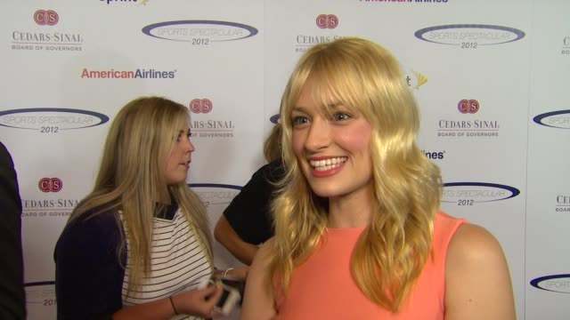 Beth Behrs on why she wanted to attend the Sports Spectacular going to UCLA with honoree Kevin Love her thoughts on this years honorees who she is...